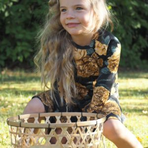 Lasten Elisa-mekkotunika, okra pioni