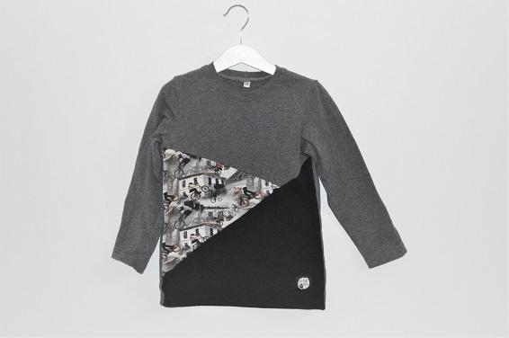 Kotimainen lasten bmx-paita harmaa