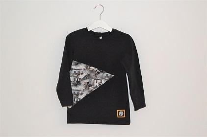 Kotimainen lasten bmx-paita musta
