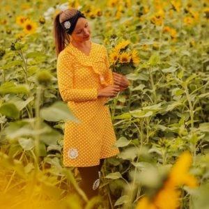 YellowQuu kotimainen kietaisutunika trikoosta